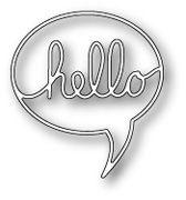 [1100] DIES- Hello Word Balloon, #poppystamps, #die, #papercraft, #word, #bubble, #quote, #hello, #balloon