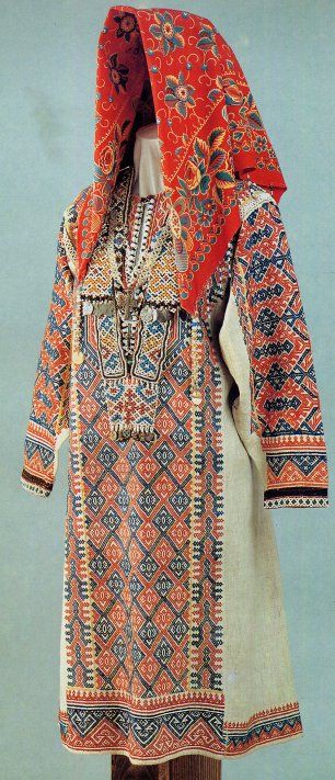 South Khanty Embroidery on woman's costume