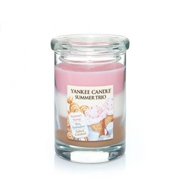 Summer Trio Scented Candle : Tumbler Candle : Yankee Candle : Trio of Summer Scoop, Merry Marshmallow, Salted Caramel