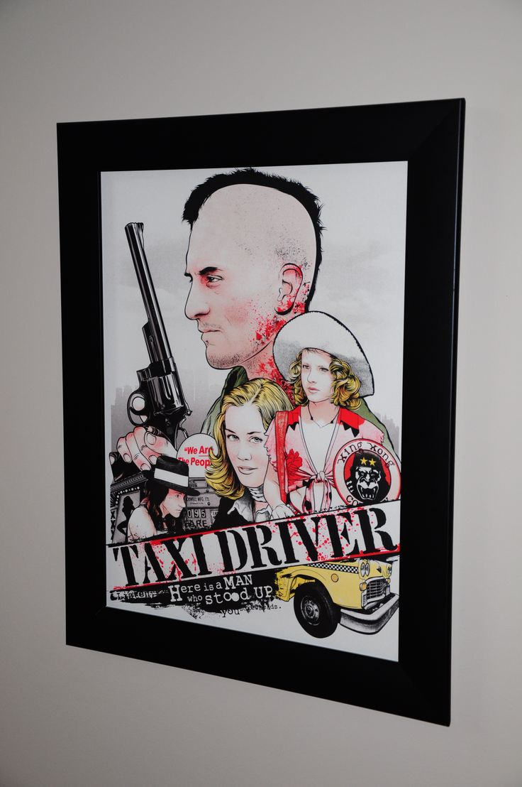 Scorsese Collection Taxi Driver by Joshua Budich @JBudich purchased from @Spoke_Art framed by us www.SpotlightDisplays.com