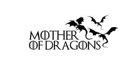 Mother of Dragons Vinyl Decal, Game of Thrones Car Decal, Targaryen Sticker, Laptop Stickers, Dragon Decor, Dragon Decal, Dragon Sticker