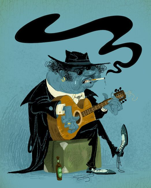 Blues Guitarist by Wouter Tulp http://www.guitarandmusicinstitute.com