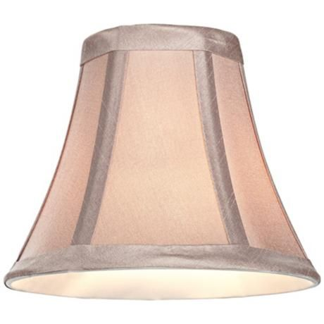 Update any sconce or chandelier with this bell lamp shade with a polished brass clip on fitter style at lamps plus