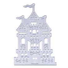 1 st Kasteel Ontwerp Metalen Stansmessen Stencil voor DIY Scrapbooking Die Cuts Embossing Map Papier Kaart Decoratie Ambachten Sterft(China (Mainland))