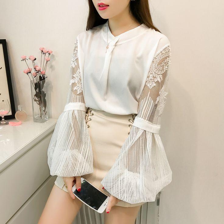 Missoov moda feminina blusas de mode marque automne lolita style femmes blouses dentelle shirts blanc jaune dames tops vetement femme dans Blouses & Chemises de Femmes Vêtements & Accessoires sur AliExpress.com | Alibaba Group