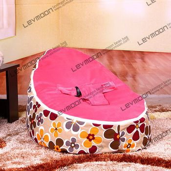 baby bean bag cover with 2pcs dark red up cover baby bean bag furniture bean bags sofa pink baby bean bag FREE SHIPPING