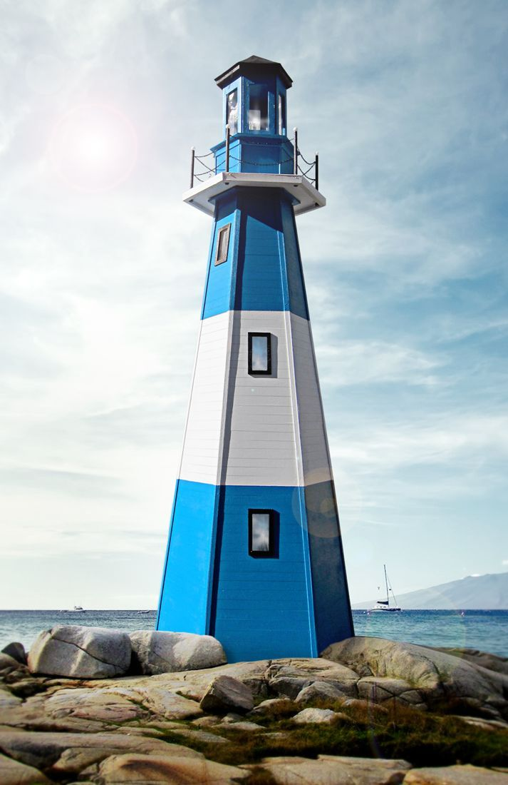 Le Phare de Larche is a scale model constructed for the 11th annual Festival of Lighthouses held at The Maritime Aquarium in Norwalk, Connecticut. Constructed mainly of foamcore and bass wood, Le Phare de Larche stands 42″ tall and is complete with a vibrant pulsing LED.