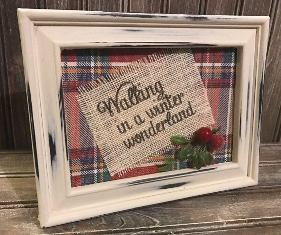 Tartan Red Plaid Christmas Decor Walking in a by ToadstoolPond