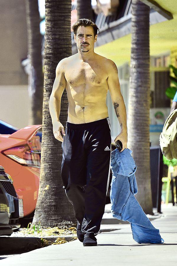 Colin Farrell Shirtless In Hollywood   Radar Online
