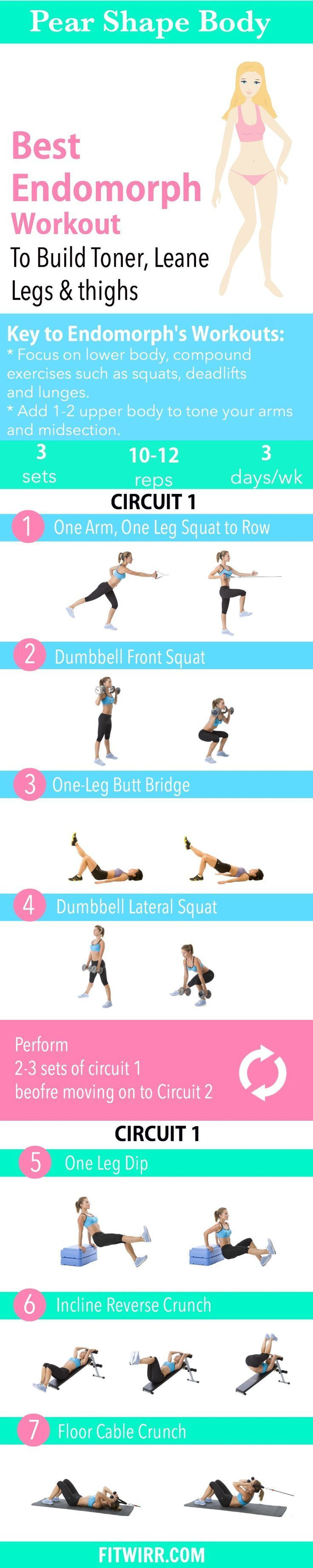 Pear Shape- Endomorph Body Type Workout to Slim Down the Thighs and Legs