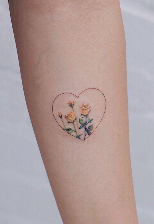 Yellow Tattoo Ink In 2020 Yellow Rose Tattoos Rose Tattoo Design Tattoos