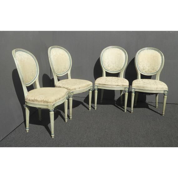 Super Set Of Four Mount Airy Vintage French Provincial White Unemploymentrelief Wooden Chair Designs For Living Room Unemploymentrelieforg