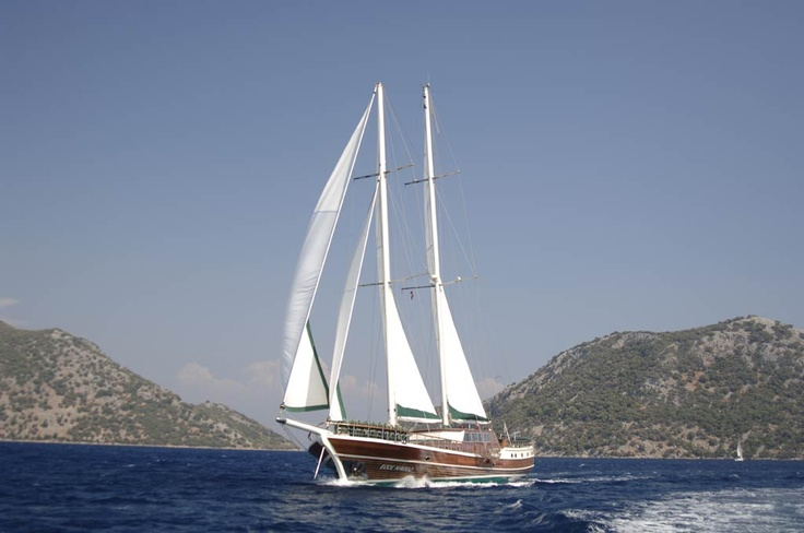 A Traditionally styled, 34-metre wooden sailing ketch, the Ecce Navigo (Latin, 'Here I sail') has been highly engineered to offer luxurious accommodation both above and below decks together with superb performance, stability and comfort while underway.