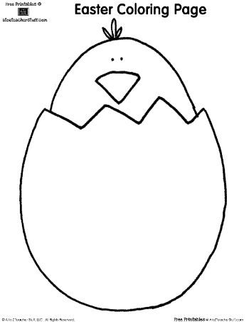 Easter Coloring Pages: Bunny and Chick | A to Z Teacher Stuff Printable Pages and Worksheets