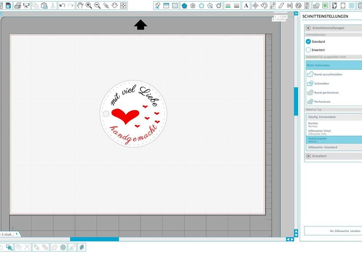 Silhouette Studio Tutorial auf Deutsch - Anhänger/ Etiketten erstellen (inkl. Text zu Pfad konvertieren)