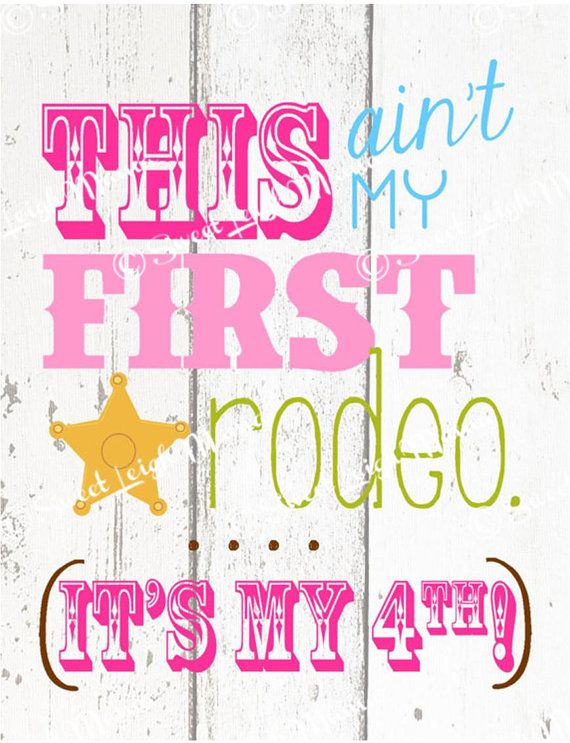 This Ain't My First Rodeo Party Printable w/ Child's Age - GIRL COLORS - Matches Sheriff Callie's Wild West Theme - Birthday Party Printable...