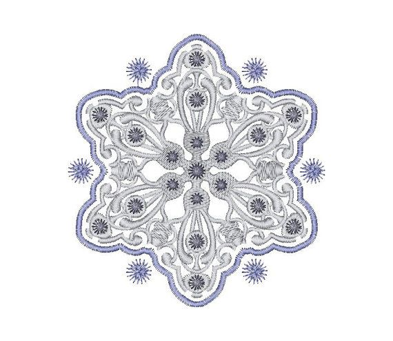 Snowflake Frost patterns - Machine Embroidery Design - Instant Download