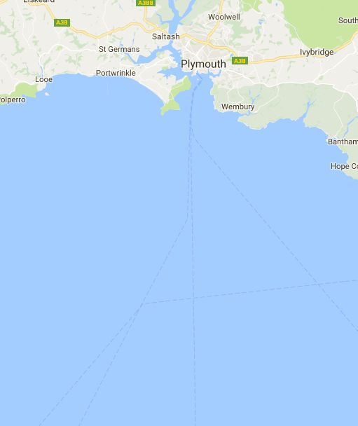 Distance between Norwich, United Kingdom and Falmouth, United Kingdom, (UK)
