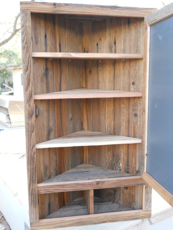 Large mirror corner medicine cabinet by TreehouseWoodworks on Etsy, $285.00