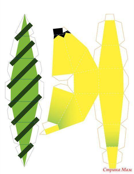 Забавные объёмные поделки из бумаги: сочные фрукты  сама не додумалась, вот отсюда уперла http://vk.com/