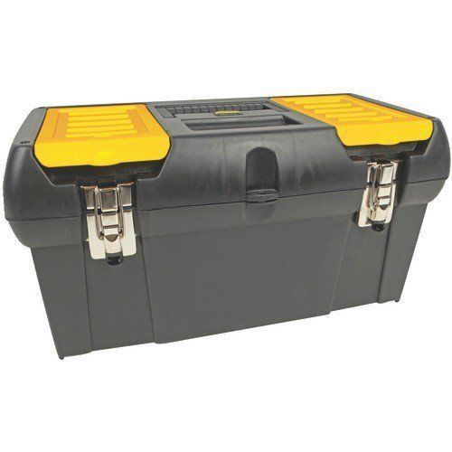 """Stanley 19"""" Yellow Black Toolbox Organizer with Lift Out Tray and Compartments #Stanley"""