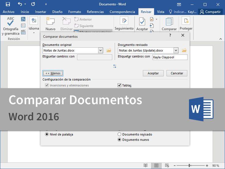 Cursos Gratis - Microsoft Word 2016 - Experto en Experto en Comparar Documentos en 2 Minutos.