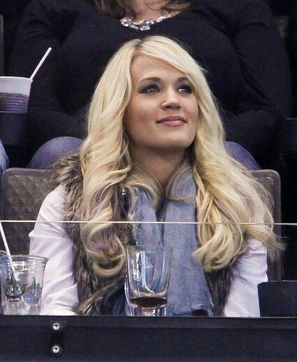 Carrie at the Predators game