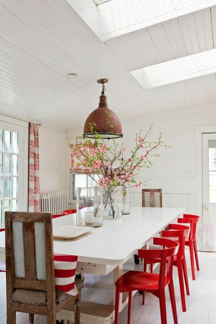 Les Meilleures Idées De La Catégorie Chaises Rouges Sur - Salle a manger marina pour idees de deco de cuisine