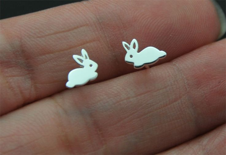 925 Sterling Silver, bunny stud, rabbit Stud Earrings Ear Studs Sensitive Ears Minimalist Minimalism Minimal by SimpleStep on Etsy https://www.etsy.com/listing/238235376/925-sterling-silver-bunny-stud-rabbit