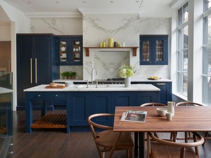 1001 Moderne Und Stilvolle Kuchen Ideen In Blau In 2020 Kuche Weiss Holz Kuche Farbideen Stilvolle Kuche