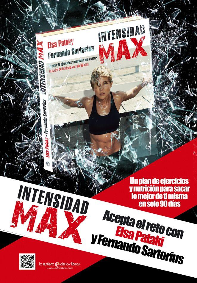 Panel publicitario para el libro Intensidad MAX que he realizado para La Esfera de los Libros