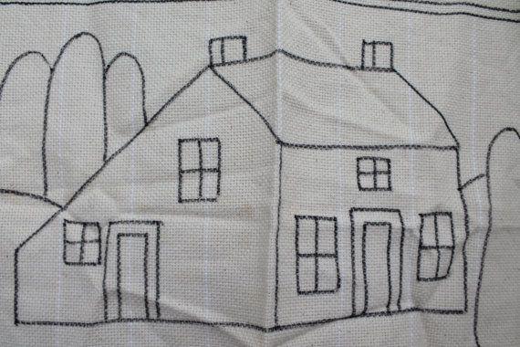 Vintage Jane Olson Rug Hooking Pattern Saltbox House By Mybarn