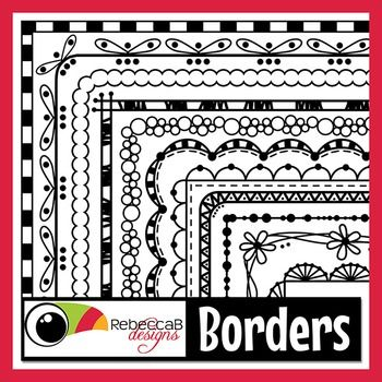 Borders contains 20 different doodled borders, white fill and transparent of each and in 2 sizes (U.S. Letter approx. and Square).  There are a total of 80 Borders in this set and they can be reduced or increased in size easily.  Use these .png files to create your worksheets, activities, product covers, posters and other teaching resources.