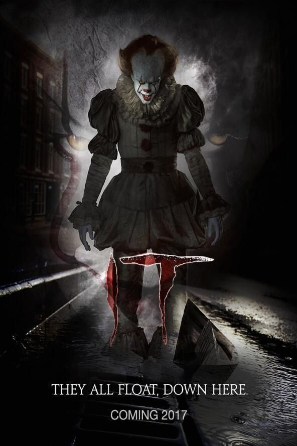 IT MOVIE BALLOON POSTER 22x34 PENNYWISE CLOWN KING 16333