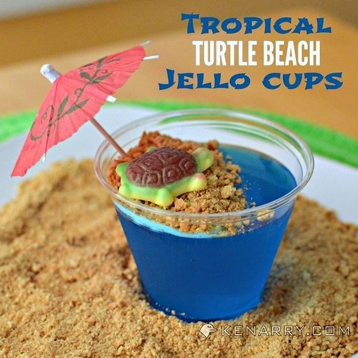 Blue Raspberry Jello Cups for Kids {Tropical Turtle Beach} - Page 2 of 2 - Kleinworth & Co