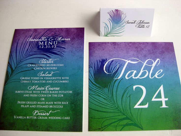 Nice Ombre Peacock Wedding Reception Accessories: DCo Lovenotes By DColovenotes  On Etsy Https://