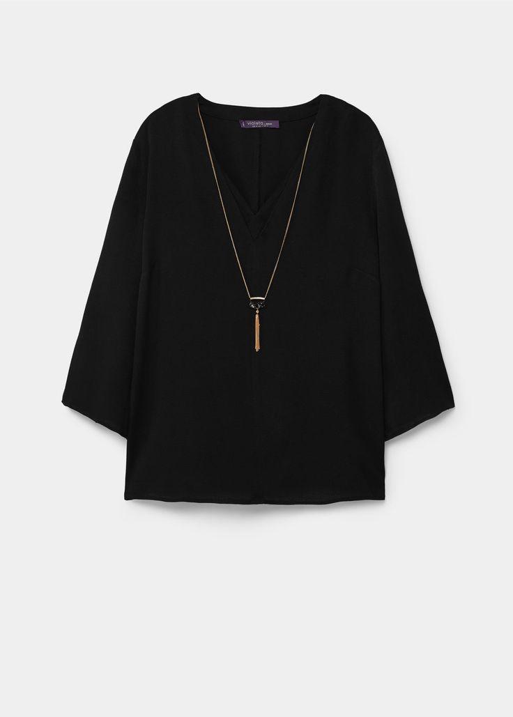 Струящаяся блузка  | VIOLETA BY MANGO ВИОЛЕТТА БАЙ МАНГО