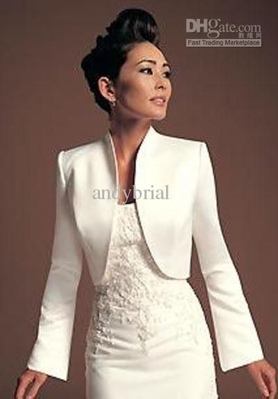 New Arrival Elegant Evening Party Dresses Jackets Wedding Boleros With Long Sleeve From Andybrial