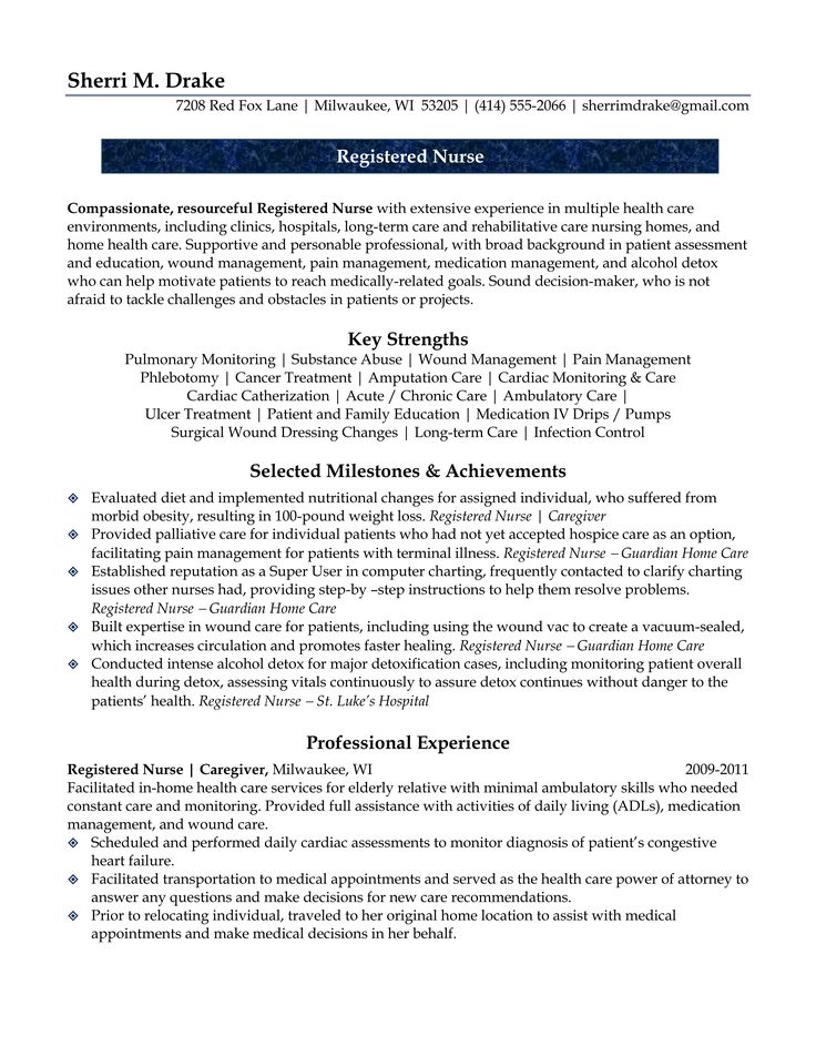 434 best ♛ Resumes ♛ images on Pinterest Resume, Curriculum - wound care specialist sample resume