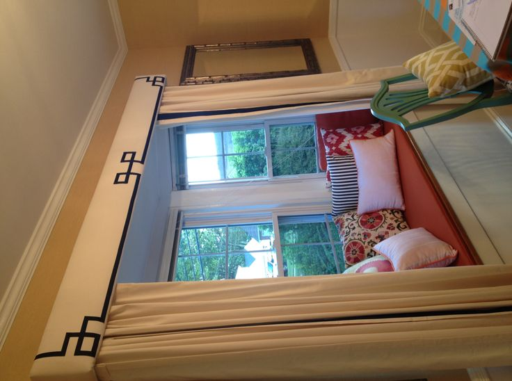 Diy Cornice Board And A Cozy Seat For A Bay Window For