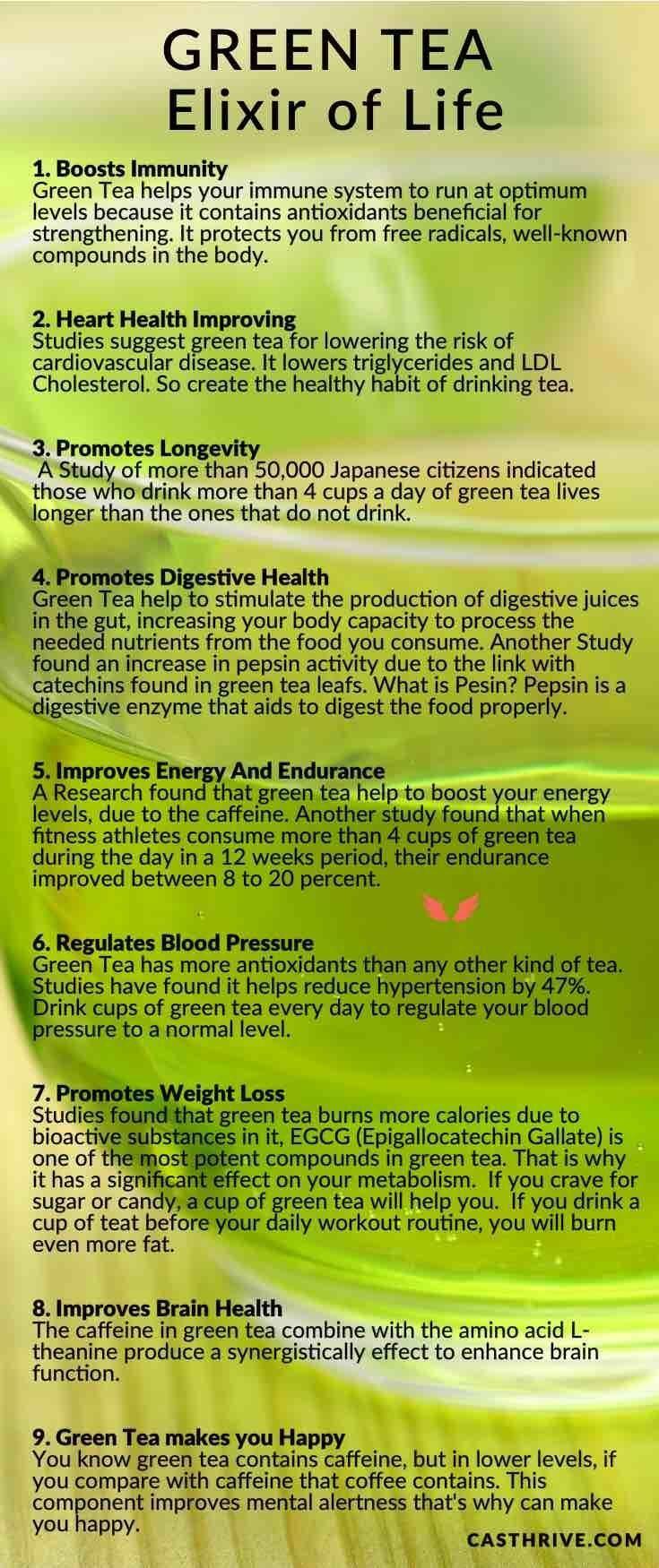 9 health benefits of green tea - elixir of life | green tea