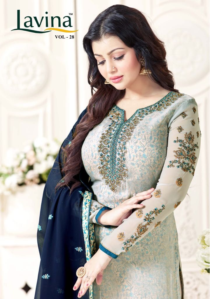 39ce624273 LAVINA VOL 28 GEORGETTE WORK LONG SUITS BUY ONLINE WHOLESALE PRICE  #SalwarSuit #DesignerSalwarKameez #DesignerSuit #BollywoodSuits  #AnarkaliSuits ...