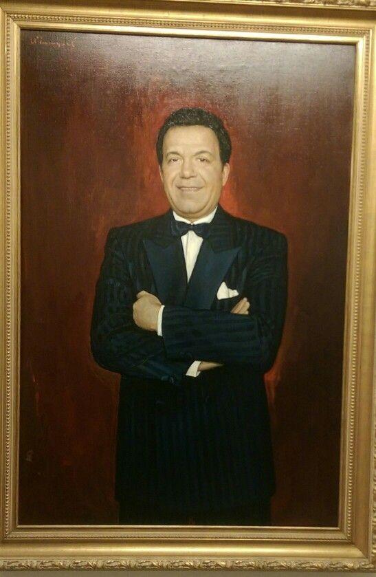 ILYA SERGEEVICH GLAZUNOV Born.1930 Портрет Иосифа Кобзона 1990  Portrait of losif Kobzon. 1990