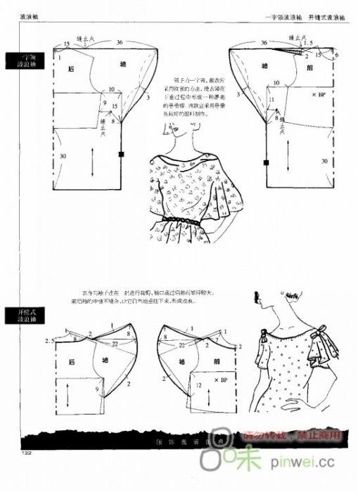Extend sleeve pattern to make a flutter sleeve