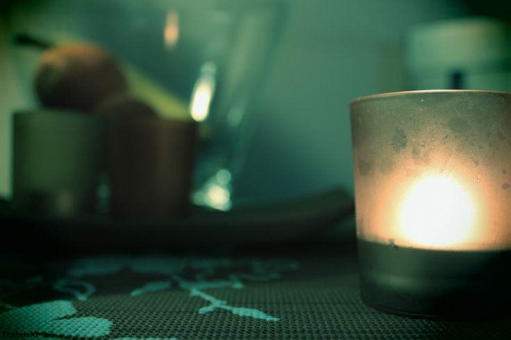 Paląca się świeczka