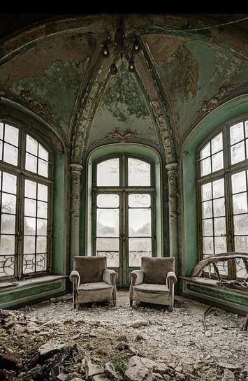 Chairs Inside Empty Old Mansion Houses Amp Buildings Empty