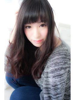 アンジュ(Ange hair) ベビーバングのアンニュイカールスタイル