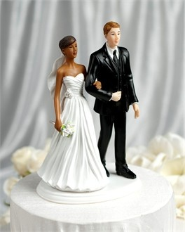 Cheap Interracial Wedding Cake Toppers Bride And Groom