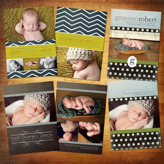 cute boy baby announcements I want to do stuff like this