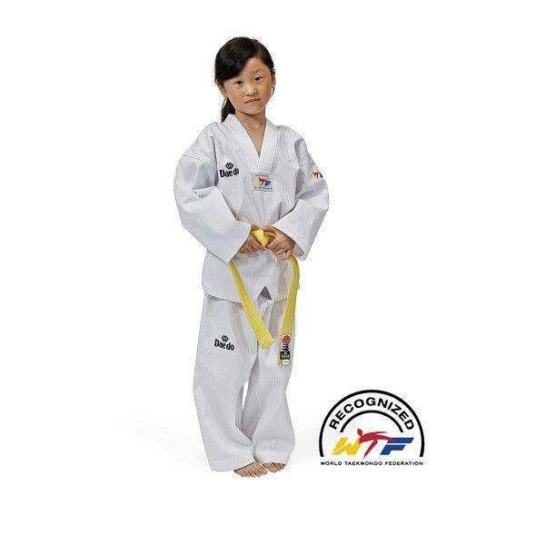 *Dobok Taekwondo Daedo modelo WTF con cuello blanco - €17.74   https://soloartesmarciales.com    #ArtesMarciales #Taekwondo #Karate #Judo #Hapkido #jiujitsu #BJJ #Boxeo #Aikido #Sambo #MMA #Ninjutsu #Protec #Adidas #Daedo #Mizuno #Rudeboys #KrAvMaga #Venum
